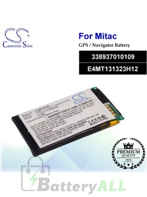 CS-MIO610SL For Mitac GPS Battery Model 338937010109 / E4MT131323H12