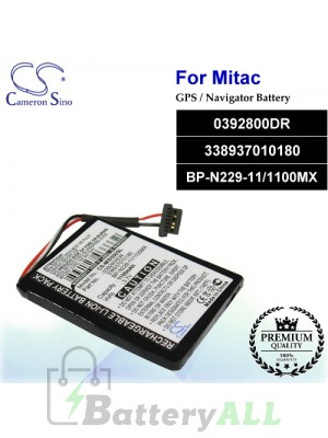 CS-MIS500SL For Mitac GPS Battery Model 0392800DR / 338937010180 / BP-N229-11/1100MX