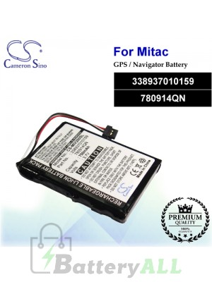 CS-MIV200SL For Mitac GPS Battery Model 338937010159 / 780914QN