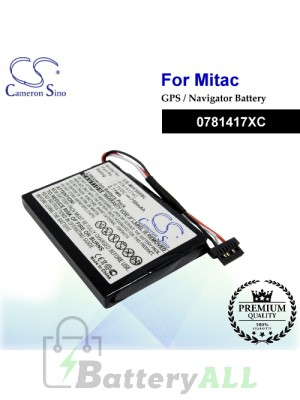 CS-MIV300SL For Mitac GPS Battery Model 0781417XC