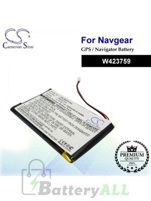CS-NGP43SL For NavGear GPS Battery Model W423759
