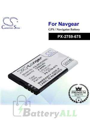 CS-NGX350SL For NavGear GPS Battery Model PX-2759-675