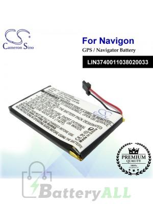 CS-NAV2000SL For Navigon GPS Battery Model LIN3740011038020033