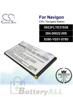 CS-NAV3300SL For Navigon GPS Battery Model 0923FLYE31938 / 384.00022.005 / 8390-YE01-0780