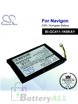 CS-NAV7210SL For Navigon GPS Battery Model BI-GC411-1K6KAY