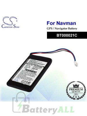 CS-ICF20SL For NAVMAN GPS Battery Model BT000021C