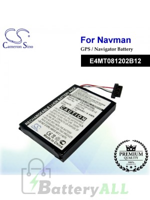 CS-ICN610SL For NAVMAN GPS Battery Model E4MT081202B12