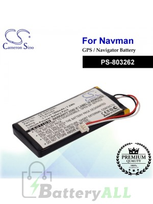 CS-ICN750SL For NAVMAN GPS Battery Model PS-803262