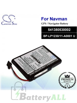 CS-ICS20SL For NAVMAN GPS Battery Model 541380530002 / BP-LP1230/11-A0001 U