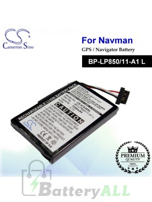 CS-ICS30SL For NAVMAN GPS Battery Model BP-LP850/11-A1 L