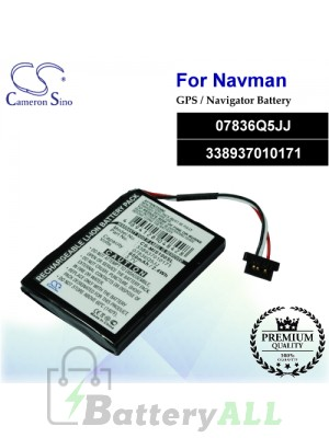 CS-MIS100SL For NAVMAN GPS Battery Model 07836Q5JJ / 338937010171