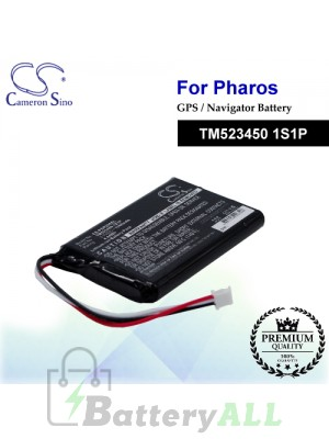 CS-PDR200SL For PHAROS GPS Battery Model TM523450 1S1P