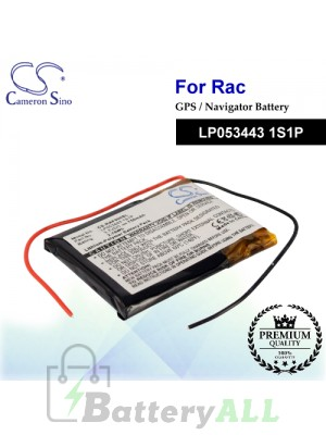 CS-RAF500SL For RAC GPS Battery Model LP053443 1S1P