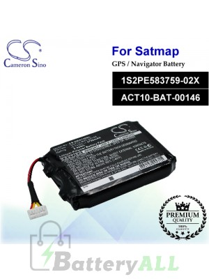 CS-SMA120SL For Satmap GPS Battery Model 1S2PE583759-02X / ACT10-BAT-00146