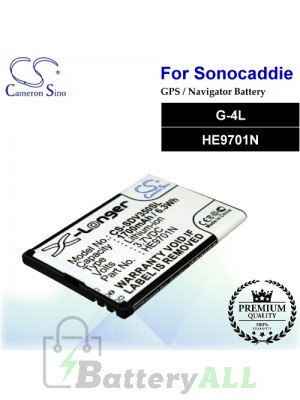 CS-SDV350SL For Sonocaddie GPS Battery Model G-4L / HE9701N