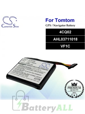 CS-TM100SL For TomTom GPS Battery Model 4CQ02 / AHL03711018 / VF1C