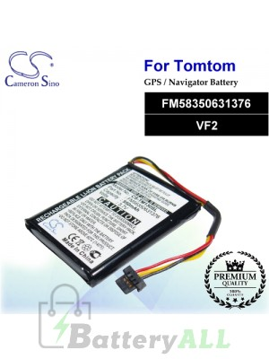 CS-TM130SL For TomTom GPS Battery Model FM58350631376 / VF2