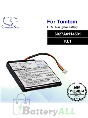 CS-TM1500SL For TomTom GPS Battery Model 6027A0114501 / KL1