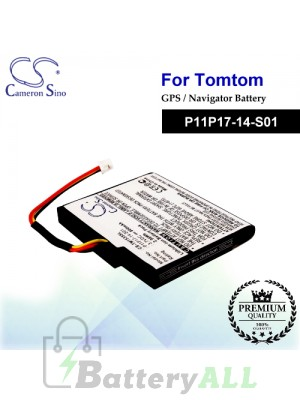 CS-TM1535SL For TomTom GPS Battery Model P11P17-14-S01