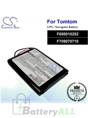 CS-TM500SL For TomTom GPS Battery Model F650010252 / F709070710