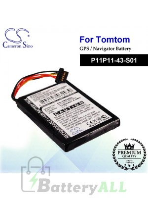 CS-TM550SL For TomTom GPS Battery Model P11P11-43-S01
