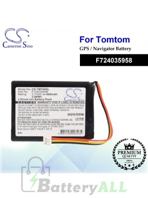CS-TM700SL For TomTom GPS Battery Model F724035958