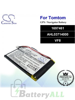 CS-TM730SL For TomTom GPS Battery Model 1697461 / AHL03714000 / VF8