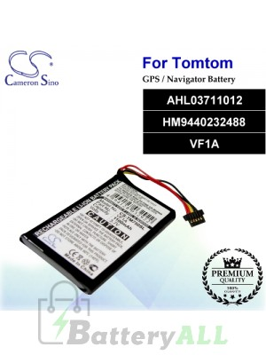 CS-TM750SL For TomTom GPS Battery Model AHL03711012 / HM9440232488 / VF1A