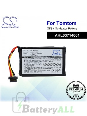 CS-TM940SL For TomTom GPS Battery Model AHL03714001