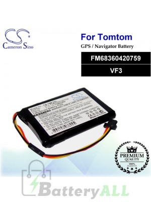 CS-TMF3SL For TomTom GPS Battery Model FM68360420759 / VF3