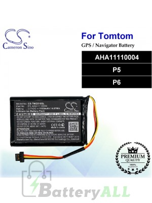 CS-TMG510SL For TomTom GPS Battery Model AHA11110004 / P5 / P6