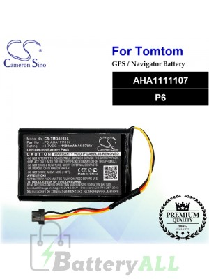 CS-TMG610SL For TomTom GPS Battery Model AHA1111107 / P6