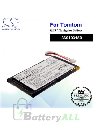 CS-TMG700SL For TomTom GPS Battery Model 360103150
