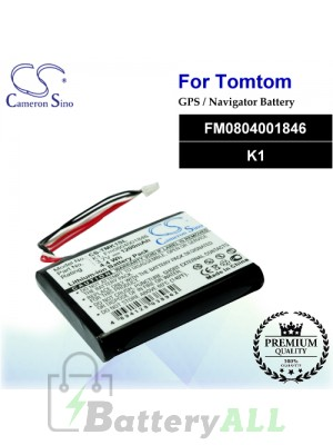 CS-TMK1SL For TomTom GPS Battery Model FM0804001846 / K1