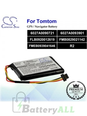 CS-TMP400SL For TomTom GPS Battery Model 6027A0090721 / 6027A0093901 / FLB0920012619 / FMB0829021142 / FMEB0939041646 / R2