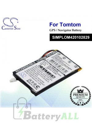 CS-TMP800SL For TomTom GPS Battery Model SIMPLOM420102829