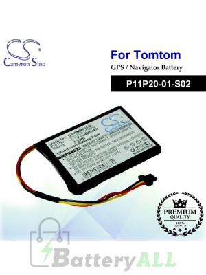 CS-TMR001SL For TomTom GPS Battery Model P11P20-01-S02