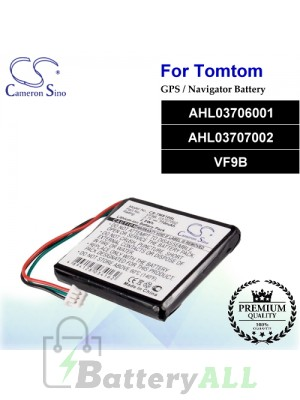 CS-TMS10SL For TomTom GPS Battery Model AHL03706001 / AHL03707002 / VF9B