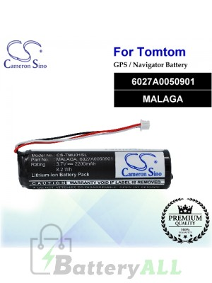 CS-TMU01SL For TomTom GPS Battery Model 6027A0050901 / MALAGA