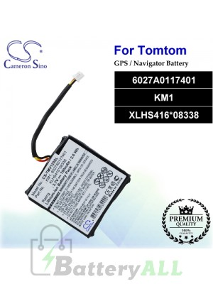 CS-TMV120SL For TomTom GPS Battery Model 6027A0117401 / KM1 / XLHS416*08338