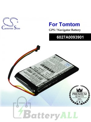 CS-TMV3SL For TomTom GPS Battery Model 6027A0093901