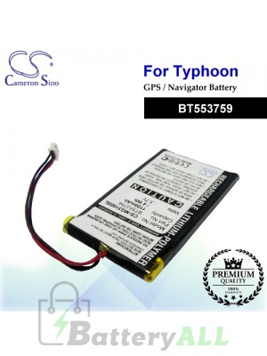 CS-MG3100SL For Typhoon GPS Battery Model BT553759