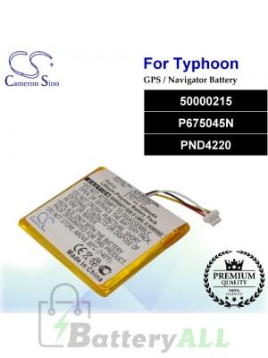 CS-MG420SL For Typhoon GPS Battery Model 50000215 / P675045N / PND4220