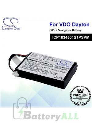 CS-VPN201SL For VDO Dayton GPS Battery Model ICP1034501S1PSPM