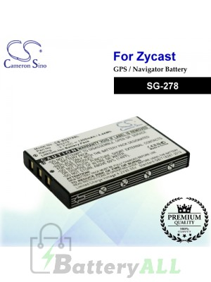 CS-SG278SL For Zycast GPS Battery Fit Model SG-278