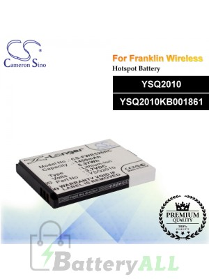 CS-FWR526RC For Franklin Wireless Hotspot Battery Model YSQ2010 / YSQ2010KB001861