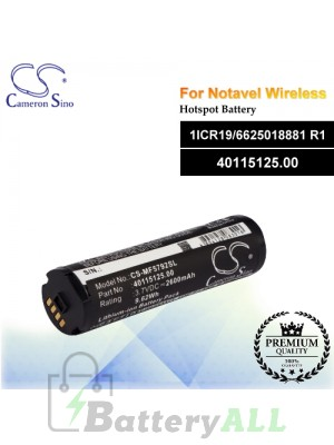 CS-MF5792SL For Novatel Wireless Hotspot Battery Model 1ICR19/6625018881 R1 / 40115125.00