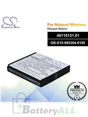 CS-MF6620SL For Novatel Wireless Hotspot Battery Model 40115131.01 / GB-S10-985354-0100