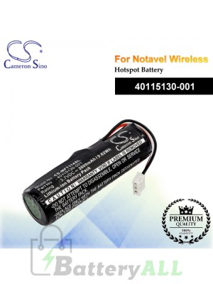 CS-MFT114SL For Novatel Wireless Hotspot Battery Model 40115130-001