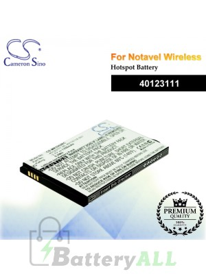 CS-MR3352RC For Novatel Wireless Hotspot Battery Model 40123111